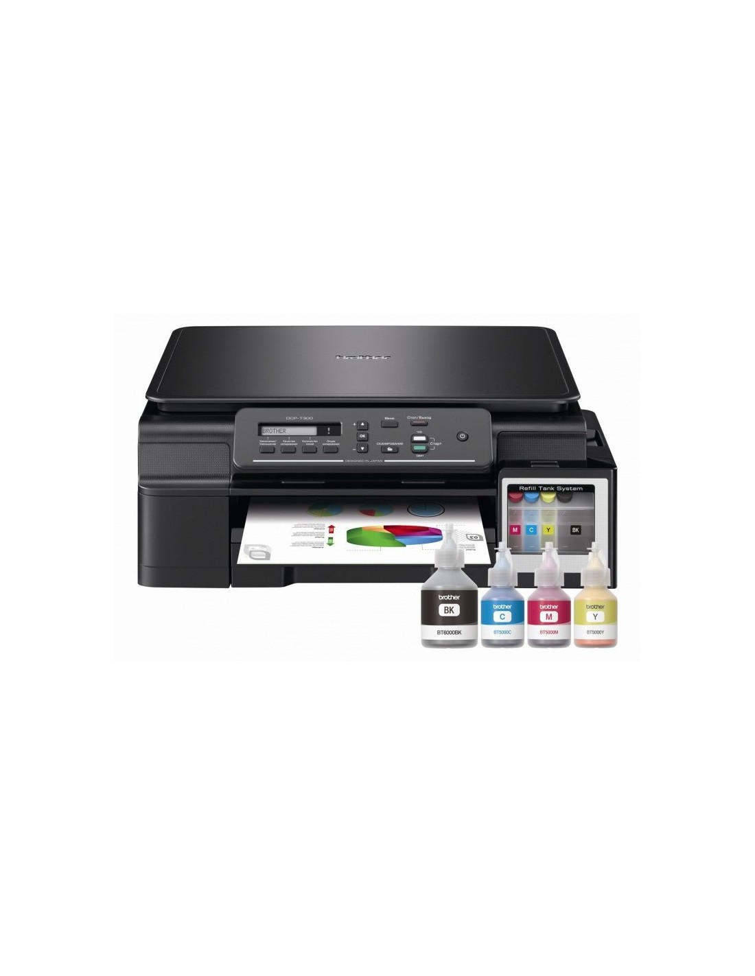 Imprimante Couleur Jet D Encre 3 En 1 Brother Dcp T300 Printer Inkjet Multifungsi Dencre