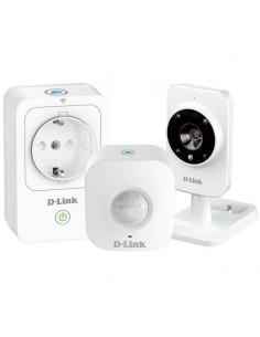 Kit de démarrage D-LINK avec caméra réseau (Wi-Fi b/g/n/ac) infrarouge, détecteur de mouvement et prise intelligente