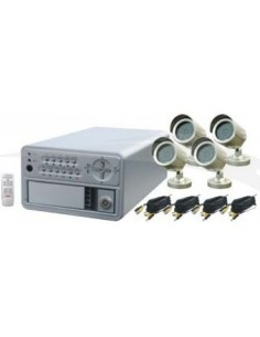 KIT DVR 4CH+4 CAMERA JOUR&NUIT DIGITAL REF: LS-8004SK