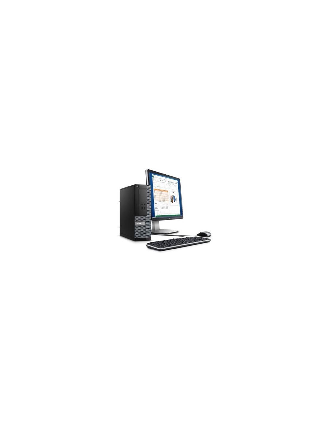 ordinateur de bureau dell optiplex 3020 dt ecran dell 20. Black Bedroom Furniture Sets. Home Design Ideas